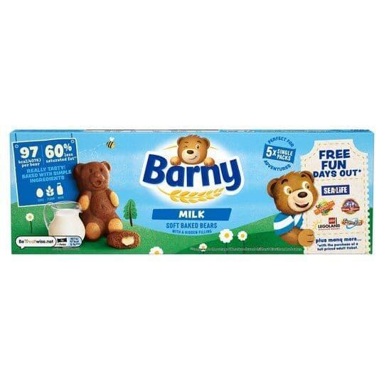 Barny Milk Sponge Bear 5pk 125g