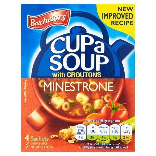 Batchelors Cup A Soup Minestrone With Croutons 94g