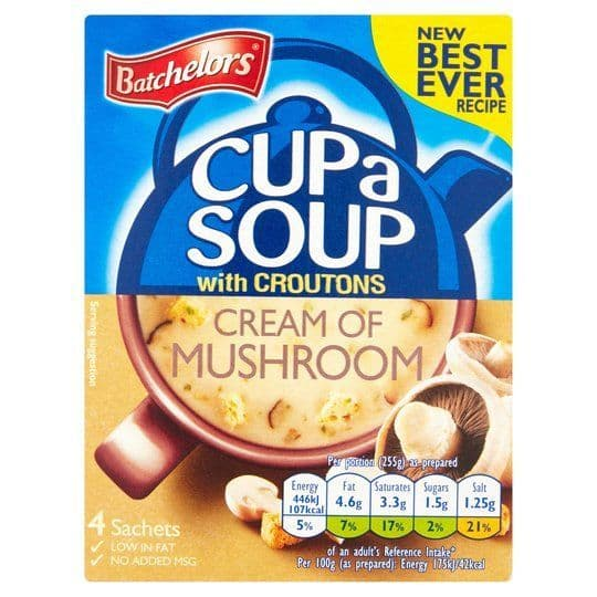 Batchelors Cup A Soup Mushroom With Croutons 94g