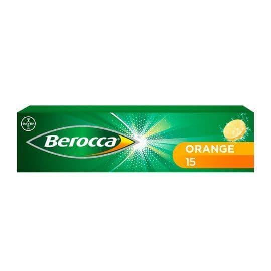 Berocca Orange Effervescent Vitamin Energy Tablets (15)