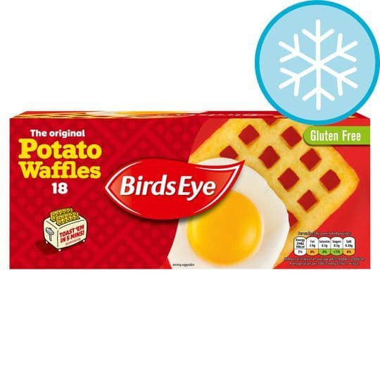 Birds Eye 18 Potato Waffles 1.02kg