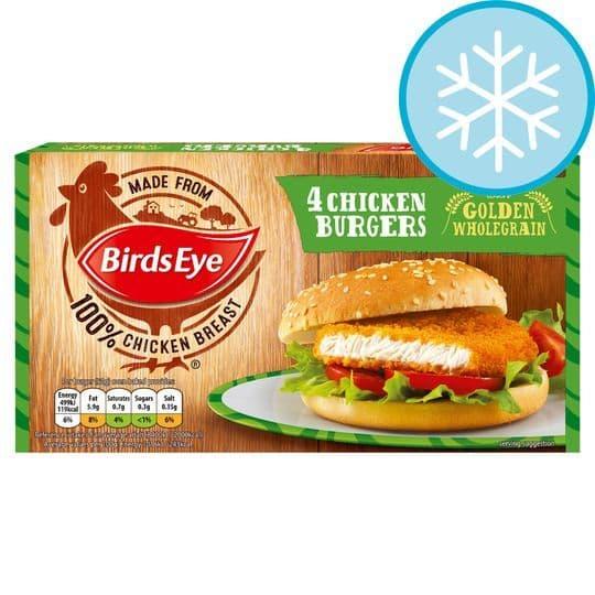 Birds Eye 4 Chicken Burgers