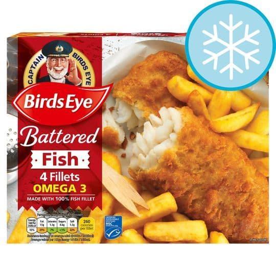 Birds Eye 4 Large Battered Fish Fillets 440g