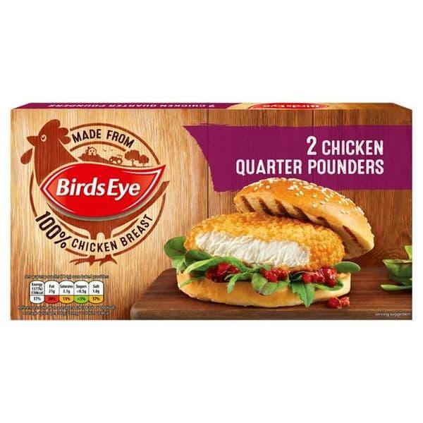 Birds Eye Chicken Quarter Pounders 2Pk