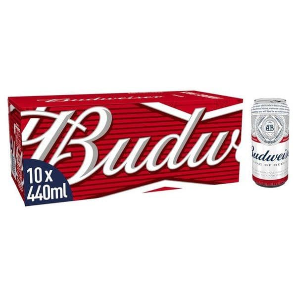 Budweiser 10x 440ml Cans