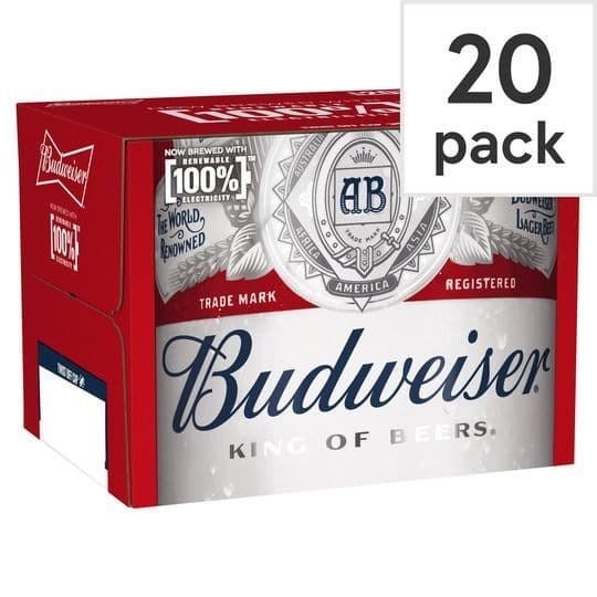 Budweiser 20x300ml Bottles