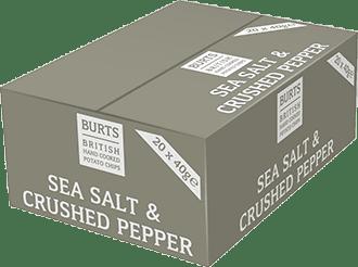 Burts Sea Salt & Crushed Pepper 20x40g
