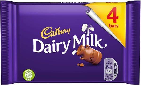 Cadbury Dairy Milk 4 Bars
