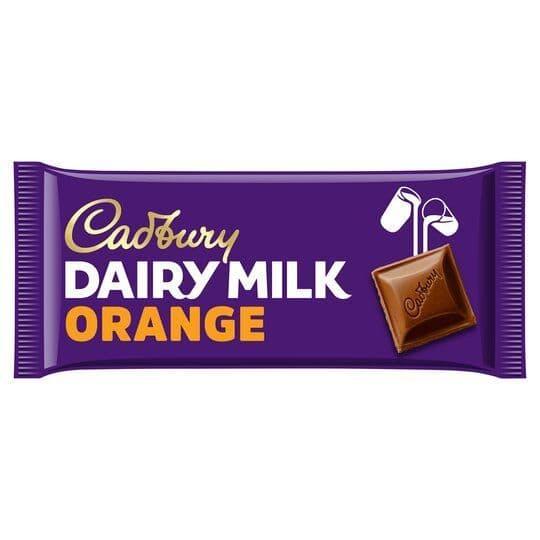 Cadbury Dairy Milk Orange 180g