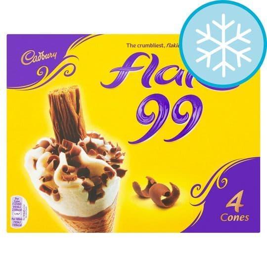 Cadbury Flake Ice Cream Cone 4pk