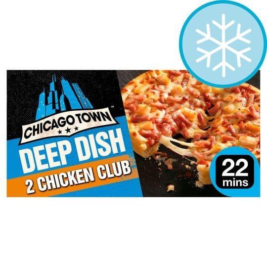 Chicago Town 2 Deep Dish Chicken Club Mini Pizzas 344g