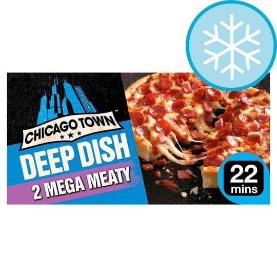 Chicago Town 2 Deep Dish Mega Meaty Mini Pizzas 320g