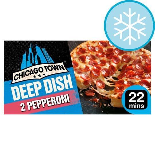 Chicago Town 2 Deep Dish Pepperoni Mini Pizzas 320g