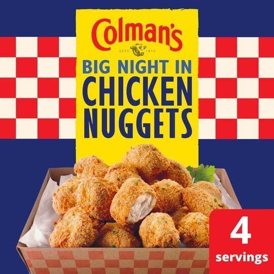 Colmans Big Night In Chicken Nuggets 63g