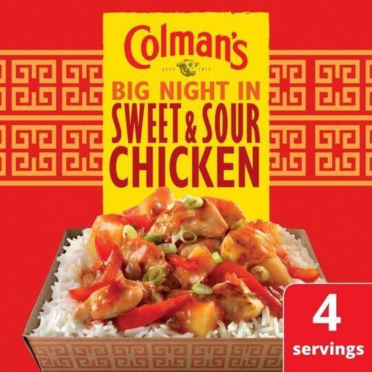 Colmans Big Night In Sweet & Sour Chicken 58g