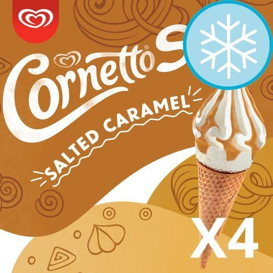 Cornetto Salted Caramel 4pk