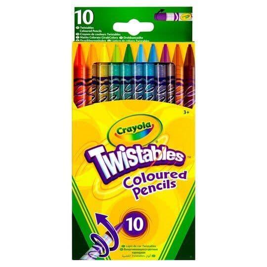 Crayola Twistables Coloured Pencils 10pk