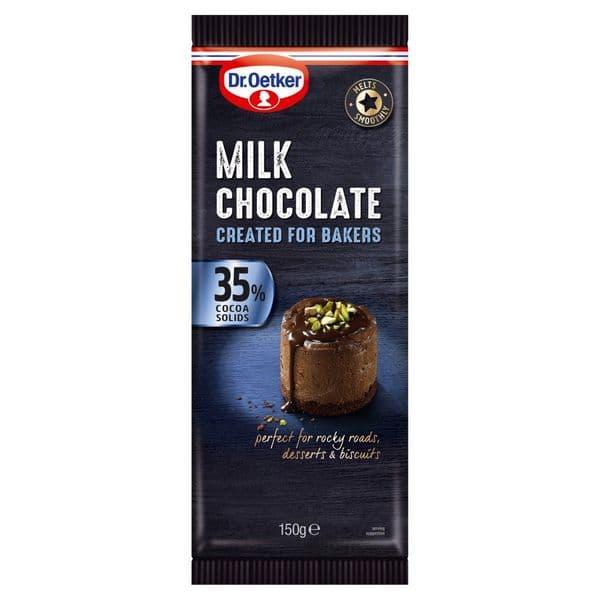 Dr Oetker Milk Chocolate Bar 150g