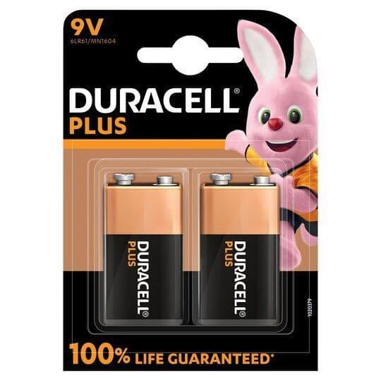 Duracell Plus 9V 2pk