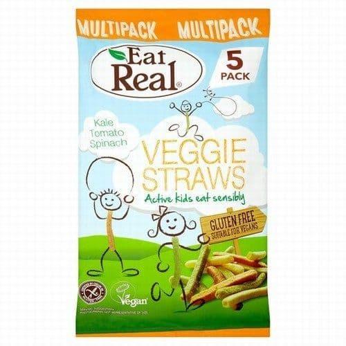 Eat Real Veggie Straws Kids Multipack 5x20g