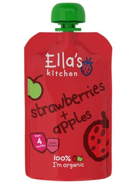 Ella's Kitchen Strawberries & Apples 120g