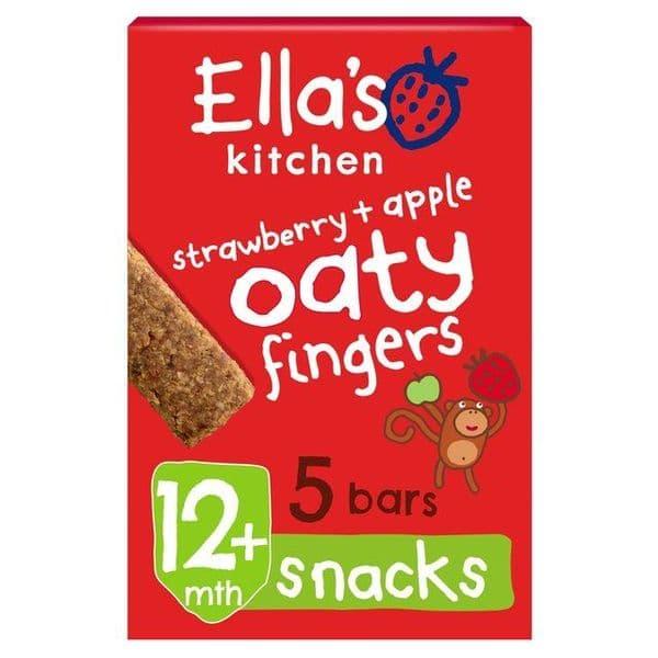 Ellas Kitchen Oaty Fingers Strawberry & Apple 5x125g
