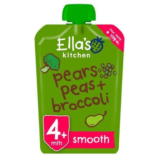 Ellas Kitchen Pears Peas & Broccoli Puree 120g