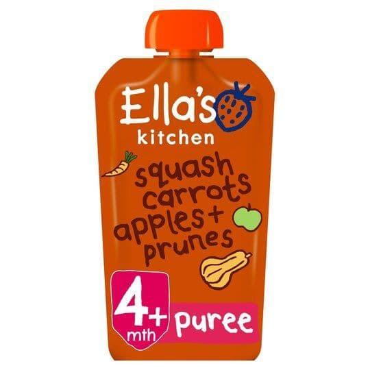 Ellas Kitchen Squash Carrot Apples & Prunes 120g