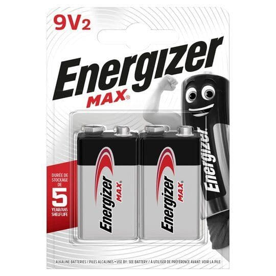 Energizer Max 9V 2pk