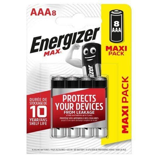 Energizer Max AAA 8pk