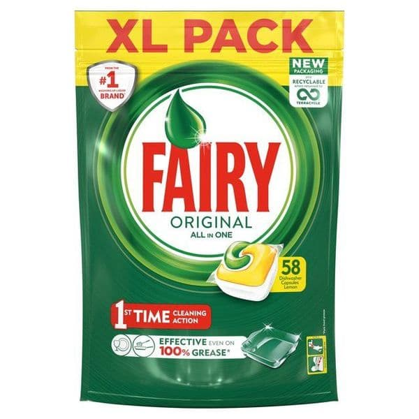 Fairy All in One Original 58pk
