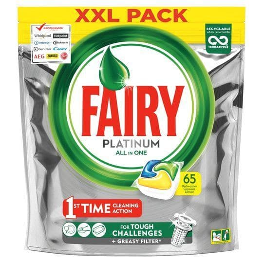 Fairy Platinum Dishwasher Tablets 65pk