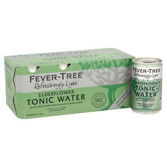 Fever Tree Light Elderflower Tonic Cans 8x150ml