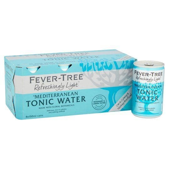 Fever Tree Light Mediterranean Tonic 8x150ml Cans