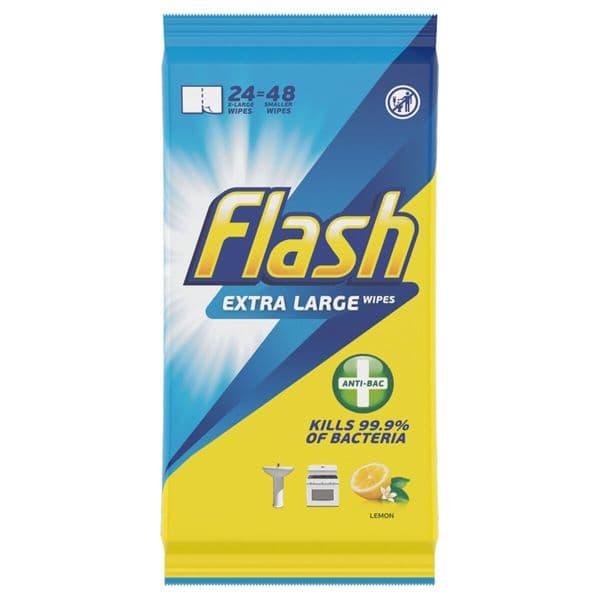 Flash Anti Bacterial Lemon Wipes 48s