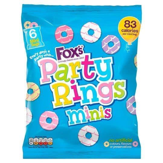 Fox Party Rings Minis 6pk