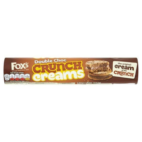 Foxs Double Chocolate Crunch Creams 230g