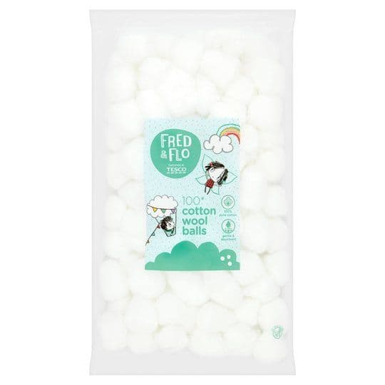 Fred & Flo 100 Cotton Wool Balls