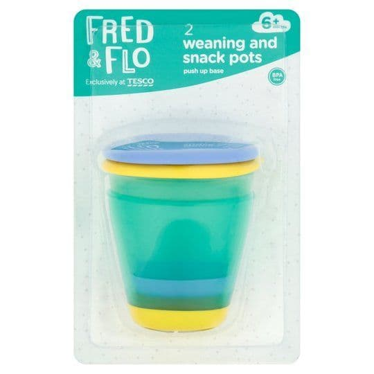Fred & Flo 2 Weaning & Snack Pots