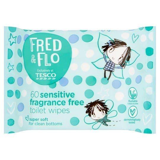 Fred & Flo Sensitive Toilet Wipes