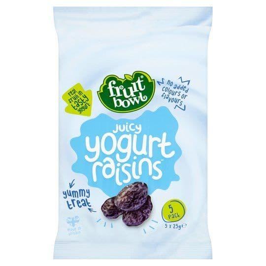 Fruit Bowl Yoghurt Raisins 5x25g