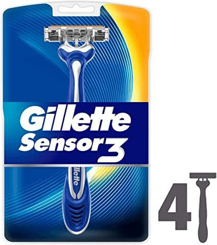 Gillette Sensor 3 Smooth Razor 4pk