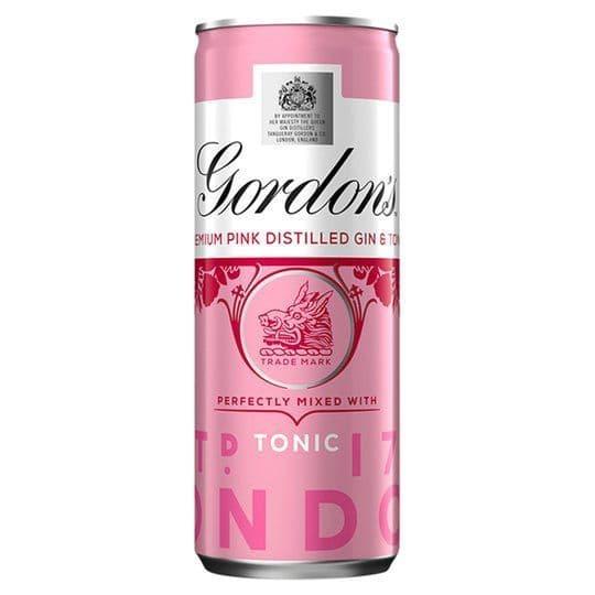 Gordons Pink Gin & Tonic 250ml Can