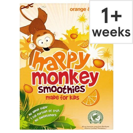 Happy Monkey Orange & Mango Smoothie 4x180ml