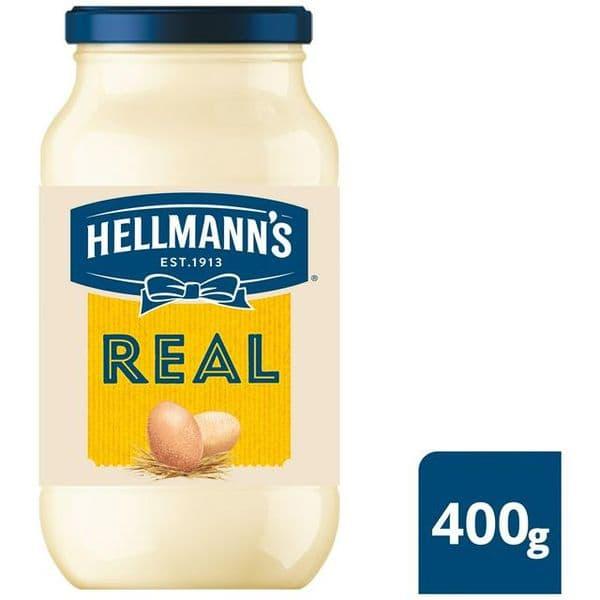 Hellmanns Real Mayonnaise Jar 400g