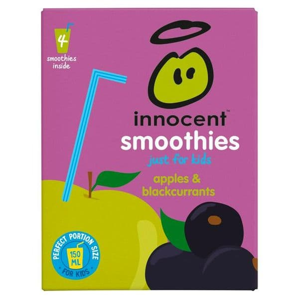 Innocent Kids Apple & Blackcurrant 4x150ml