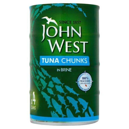 John West Tuna Chunks in Brine 4x145g