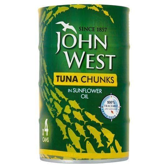 John West Tuna Chunks in Sunflower Oil 4x145g