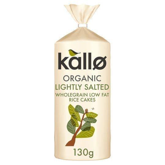 Kallo Organic Lightly Salted Wholegrain Rice Cake 130g