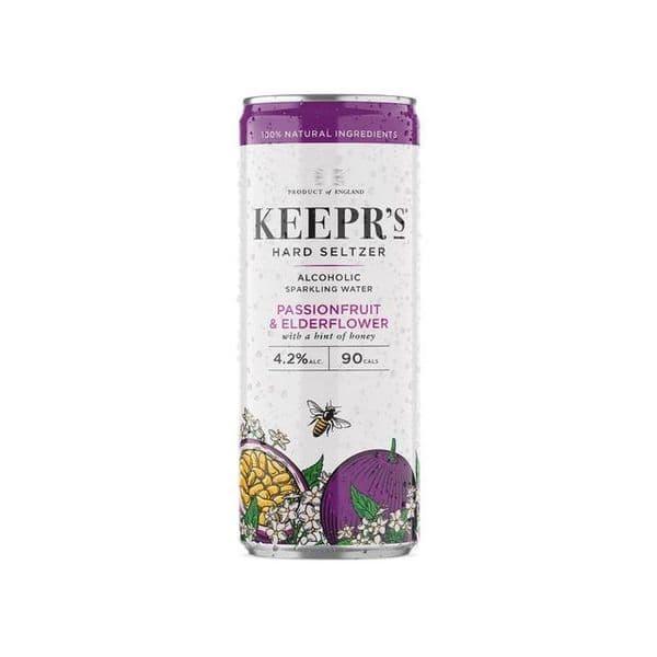 Keepr's Hard Seltzer Passionfruit & Elderflower 250ml